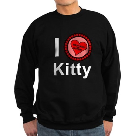 I Love Kitty Brothers & Sisters Sweatshirt (dark)
