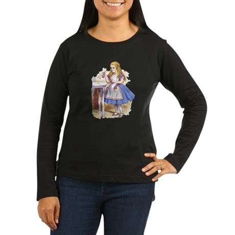 Alice in Wonderland Women's Long Sleeve Dark T-Shi