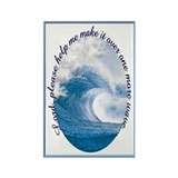 Wave Prayer (Picture) Rectangle Magnet