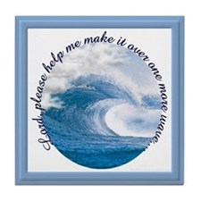 Wave Prayer (Picture) Tile Coaster