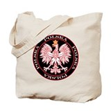 Round Polska Eagle Tote Bag