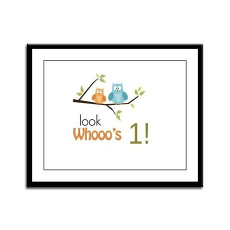 Custom Owl Birthday Framed Panel Print