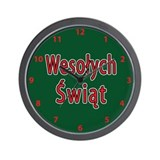 Wesolych Swiat Wall Clock