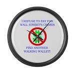 Walking Wallet Large Wall Clock