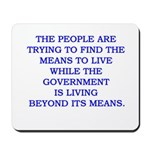living and means Mousepad