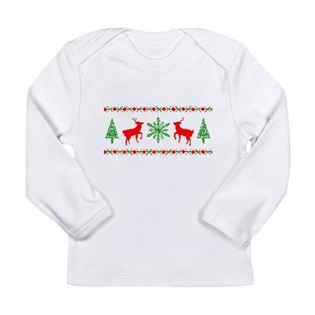 Ugly Christmas Sweater Long Sleeve Infant T-Shirt