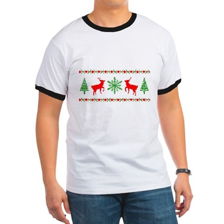Ugly Christmas Sweater Ringer T
