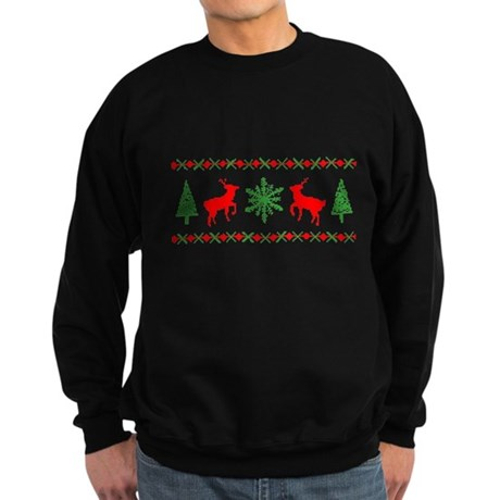 Ugly Christmas Sweater Dark Sweatshirt
