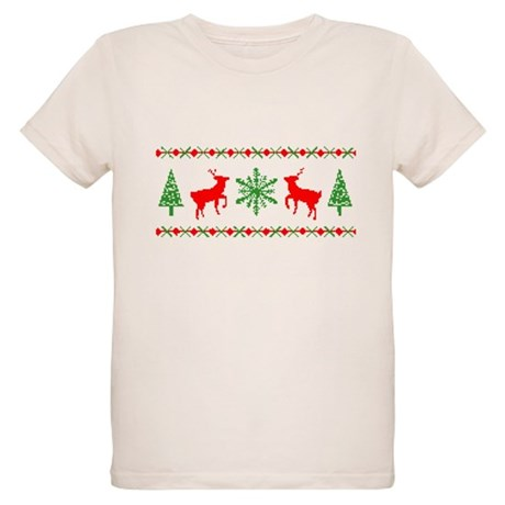 Ugly Christmas Sweater Organic Kids T-Shirt