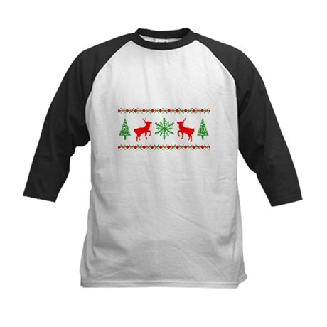 Ugly Christmas Sweater Kids Baseball Jersey