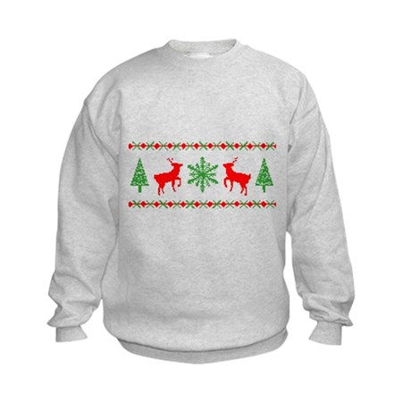 Ugly Christmas Sweater Kids Sweatshirt