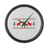 Ugly Christmas Sweater Large Wall Clock