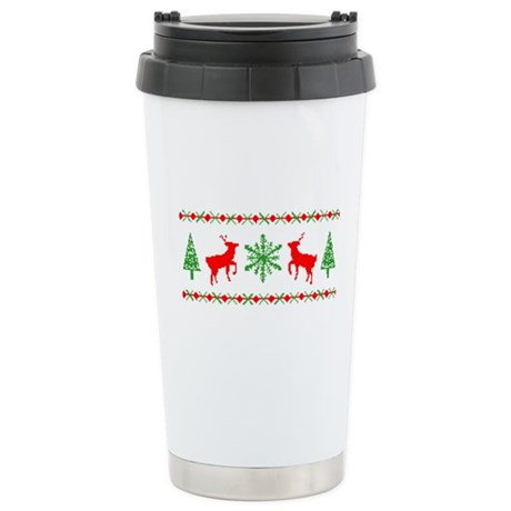 Ugly Christmas Sweater Ceramic Travel Mug