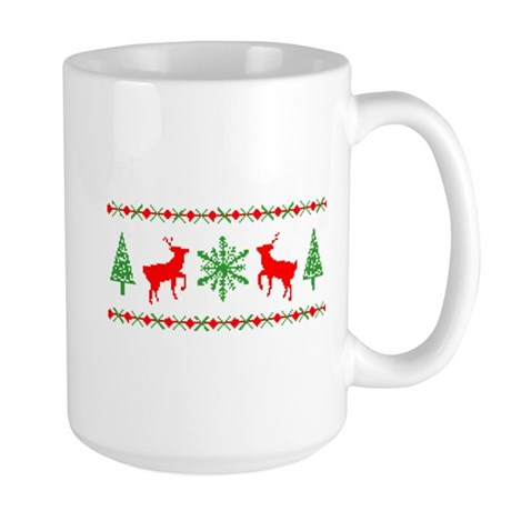 Ugly Christmas Sweater Large Mug