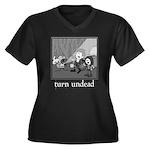 Turn Undead Women's Plus Size V-Neck Dark T-Shirt