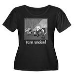 Turn Undead Women's Plus Size Scoop Neck Dark T-Sh