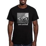 Turn Undead Men's Fitted T-Shirt (dark)