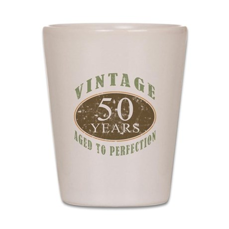 Vintage 50th Birthday Shot Glass
