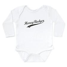 Team Honey Badger [b/w] Long Sleeve Infant Bodysui
