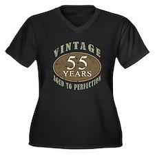 Vintage 55th Birthday Women's Plus Size V-Neck Dar