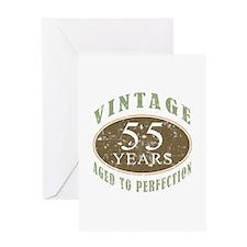 Vintage 55th Birthday Greeting Card