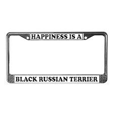 Black Russian Terrier License Plate Frame