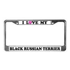 Love My Black Russian Terrier License Plate Frame
