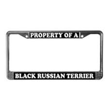 Property Black Russian Terrier License Plate Frame