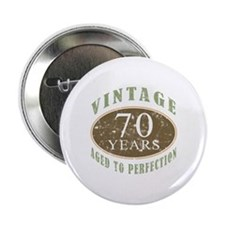 "Vintage 70th Birthday 2.25"" Button (10 pack)"