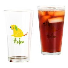 Helen Loves Puppies Drinking Glass