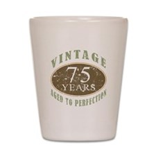 Vintage 75th Birthday Shot Glass