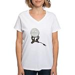 USB Crystal Ball Women's V-Neck T-Shirt
