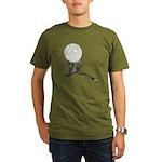 USB Crystal Ball Organic Men's T-Shirt (dark)
