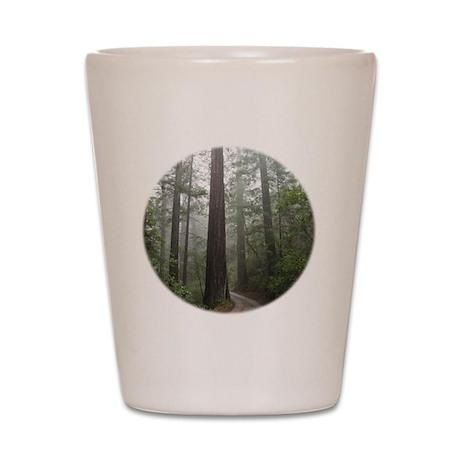 Redwood Forest Fog Shot Glass