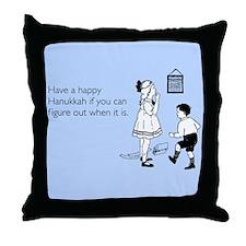 Hanukkah Date Throw Pillow