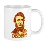 "Thoreau ""Disobey"" Small Mug"