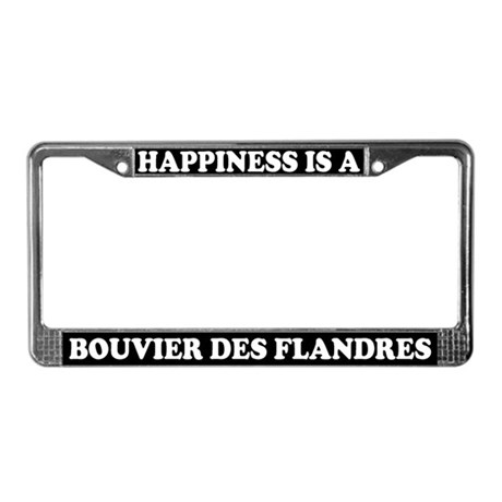 Happiness Bouvier Des Flandres License Plate Frame
