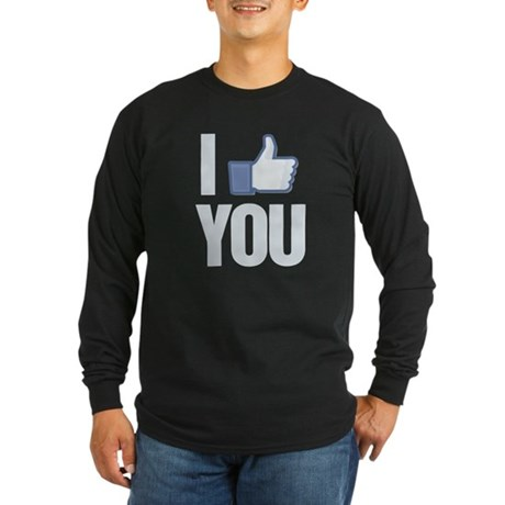 I like you Long Sleeve Dark T-Shirt