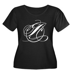 Circle A Women's Plus Size Scoop Neck Dark T-Shirt