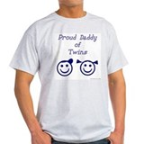 Proud Dad of Twins BG Ash Grey T-Shirt