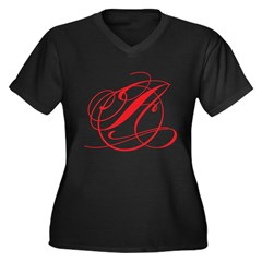 Circle A Women's Plus Size V-Neck Dark T-Shirt