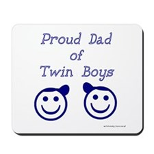 Proud Dad of Twin Boys Mousepad