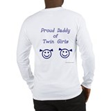 Proud Daddy of Twin Girls Long Sleeve T-Shirt