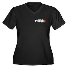Twilight Quotes Women's Plus Size V-Neck Dark T-Sh