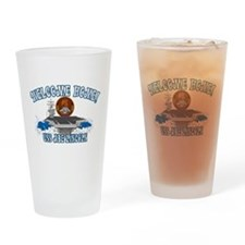 Welcome USS Lincoln! Drinking Glass