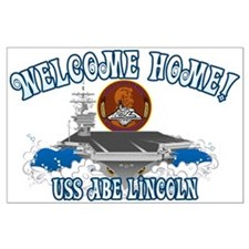Welcome USS Lincoln! Large Poster