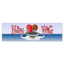 Navy Wife Bumper Sticker