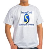 Super Dad of Wonder Twins Ash Grey T-Shirt