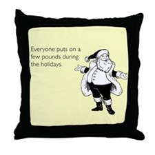 Holiday Pounds Throw Pillow