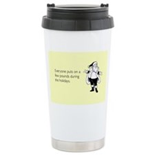 Holiday Pounds Stainless Steel Travel Mug